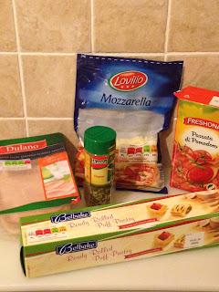 Empanada de Hojaldre, ingredientes
