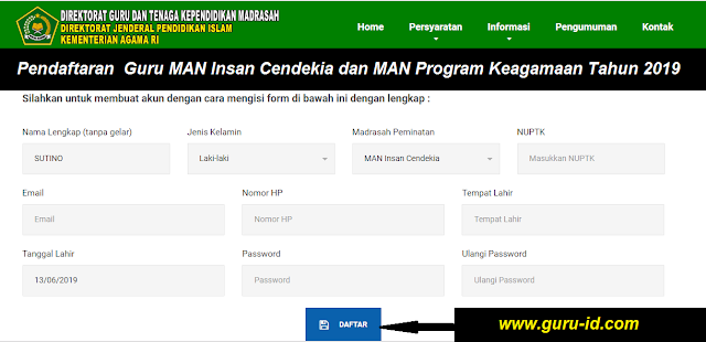 gambar daftar di situs ttps://madrasah2.kemenag.go.id/seleksiptk