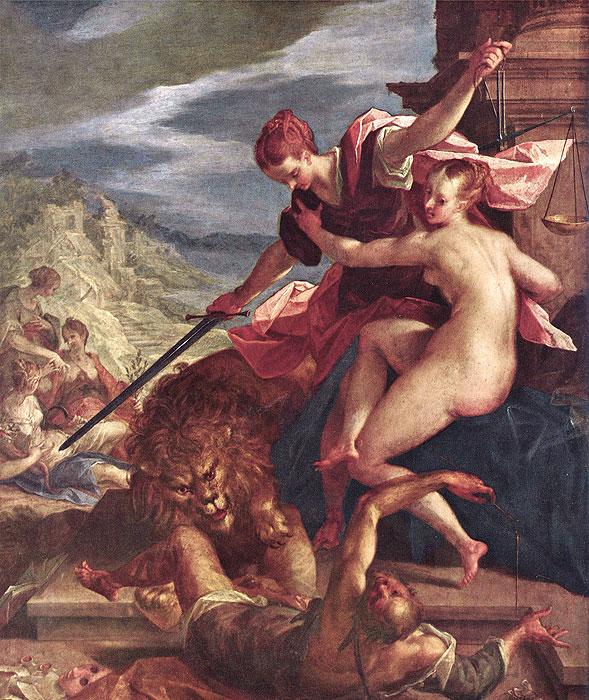 Hans von Aachen Adaletin Yardımı ile Hakikatin Zaferi tablosu
