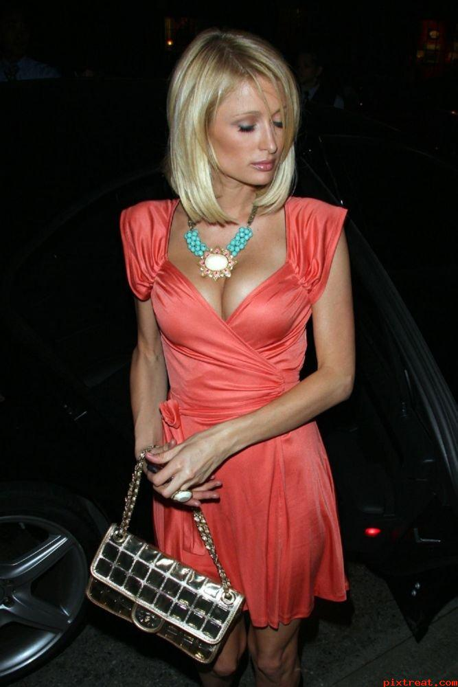 Paris Hilton Huge Cleavage Show  Hot Actress Sexy Pics-5584