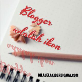 Blogger terpaksa menjadi ikon