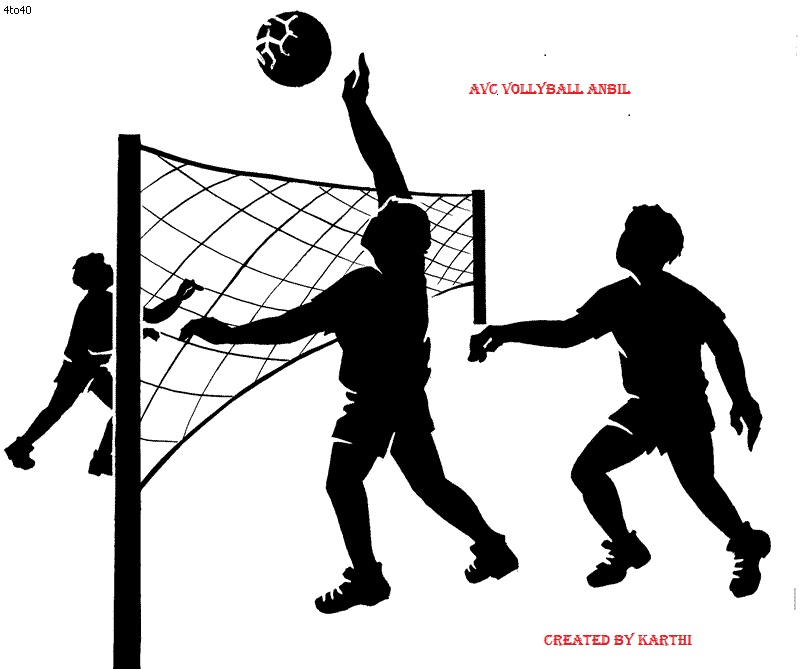 A Female Volleyball Player Jumps To Spike A Ball and A Valet Stand Out –  Clipart Cartoons By VectorToons