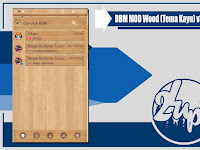 BBM MOD Wood (Tema Kayu) Based v3.2.0.6 Terbaru by Ciben