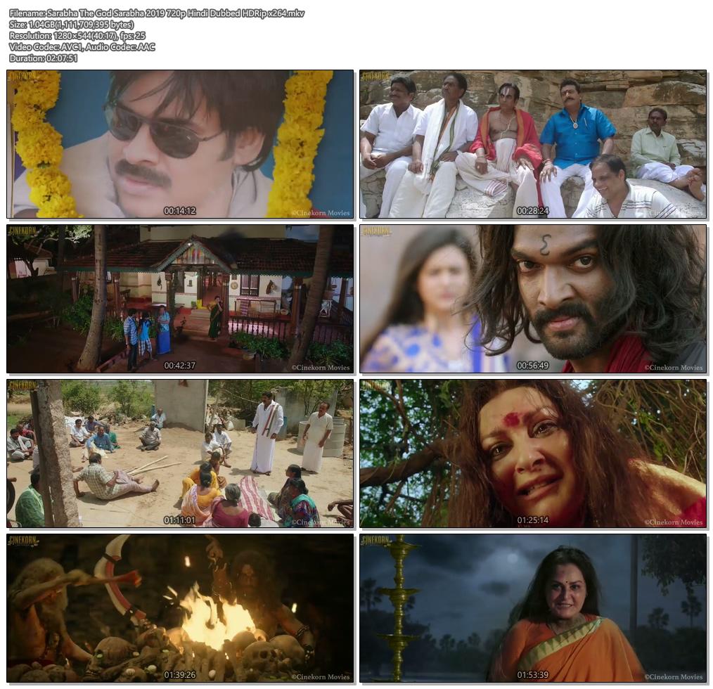 Sarabha The God Sarabha 2019 720p Hindi Dubbed HDRip x264 | 480p 300MB | 100MB HEVC Screenshot