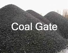 Coal Heaps representing Coal Scam of India