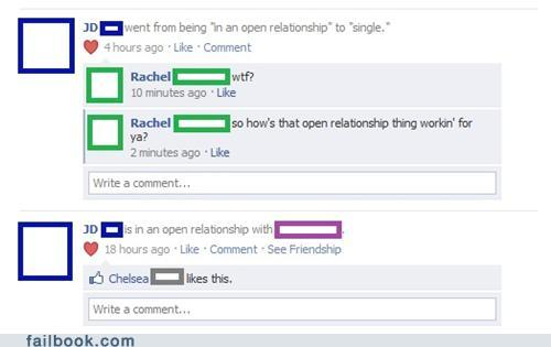 in an open relationship on facebook