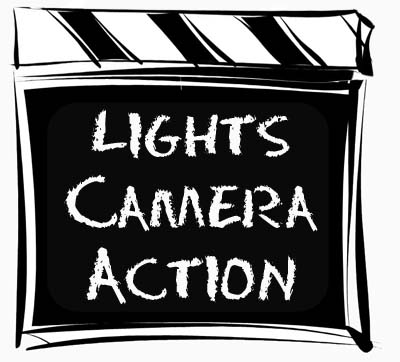 lights, camera, action graphic