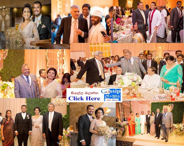 Dudley Sirisena's Son's Wedding