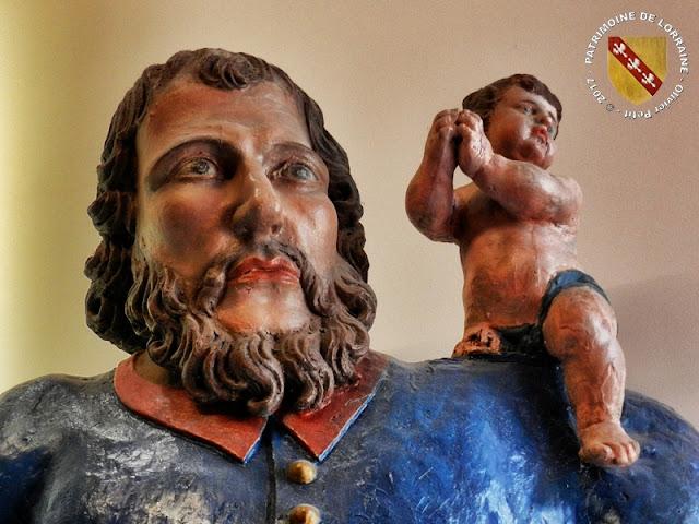 VIC-SUR-SEILLE (57) - Musée Georges de la Tour : Statue de Saint-Christophe (Fin XVIIe-Début XVIIIe siècles)