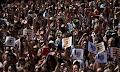 Μουσουλμάνοι της Βαρκελώνης διαδήλωσαν κατά της τρομοκρατίας