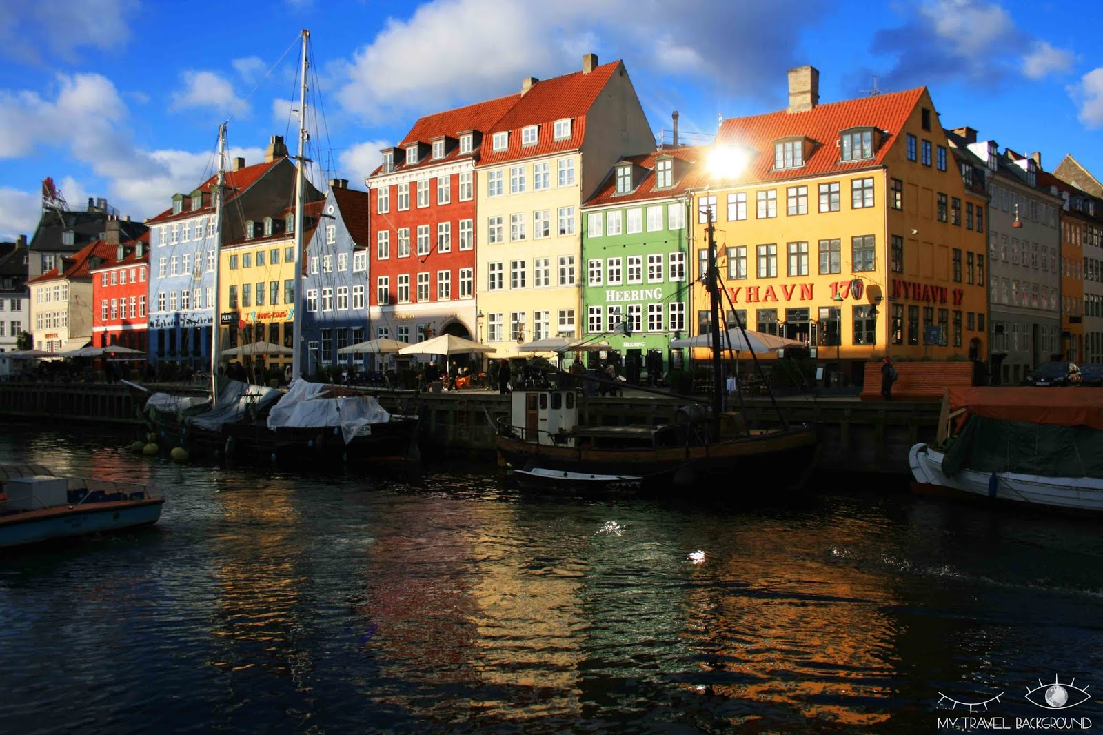 My Travel Background : carte postale du Danemark - Copenhague