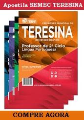 Apostila Prefeitura de Teresina 2016, Concurso Professor SEMEC