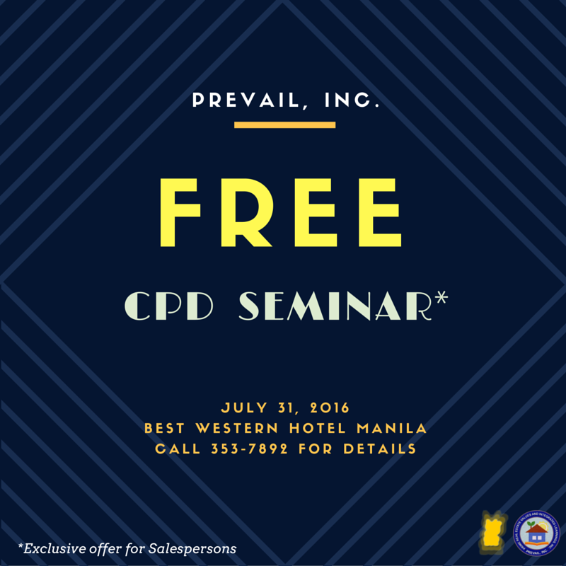 Prevail Inc Offers Free Cpd Session Prime Real Estate Values And