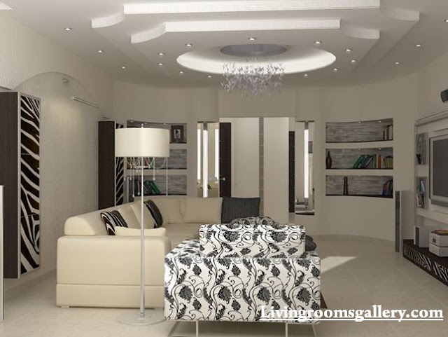 creative POP false ceiling designs for living room