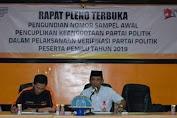 Ketua KPU Selayar Pimpin Pleno Terbuka Verifikasi Parpol Peserta Pemilu 2019