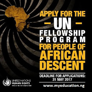 OHCHR Fellowship Programme 2018 for People of African Descent