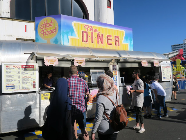 the diner food vendor, inside luna park, St Kilda's beach, Melbourne