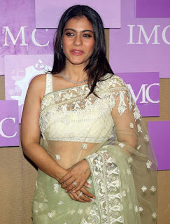 Beautiful Indian Model Kajol In Transparent Green Saree (6)