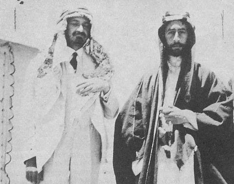 1918 Chaim Weizmann y Emir Faisal