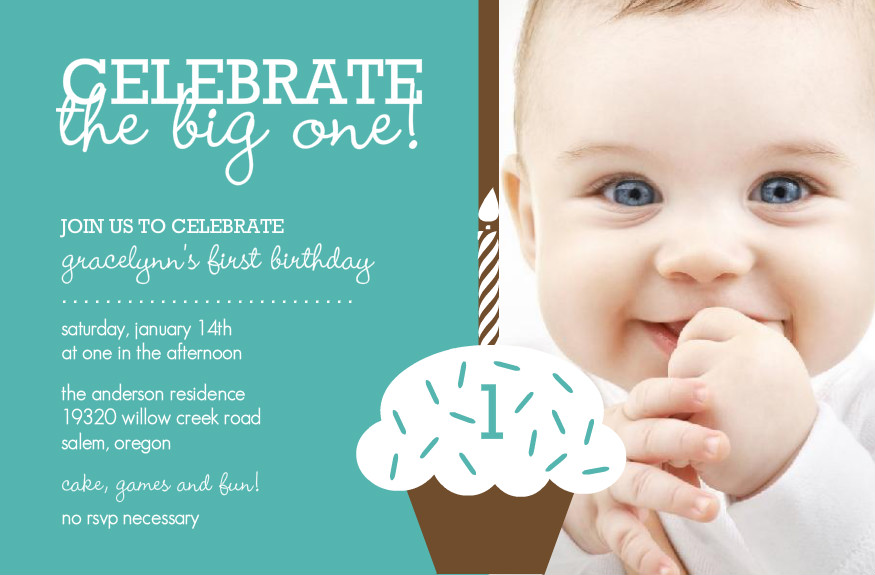 First Birthday Invitation Cards for Baby Boy Girl Romantic Love