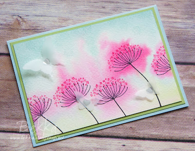 Watercoloured Flowers Card for Any Occasion - Find Out How This Was Made Here