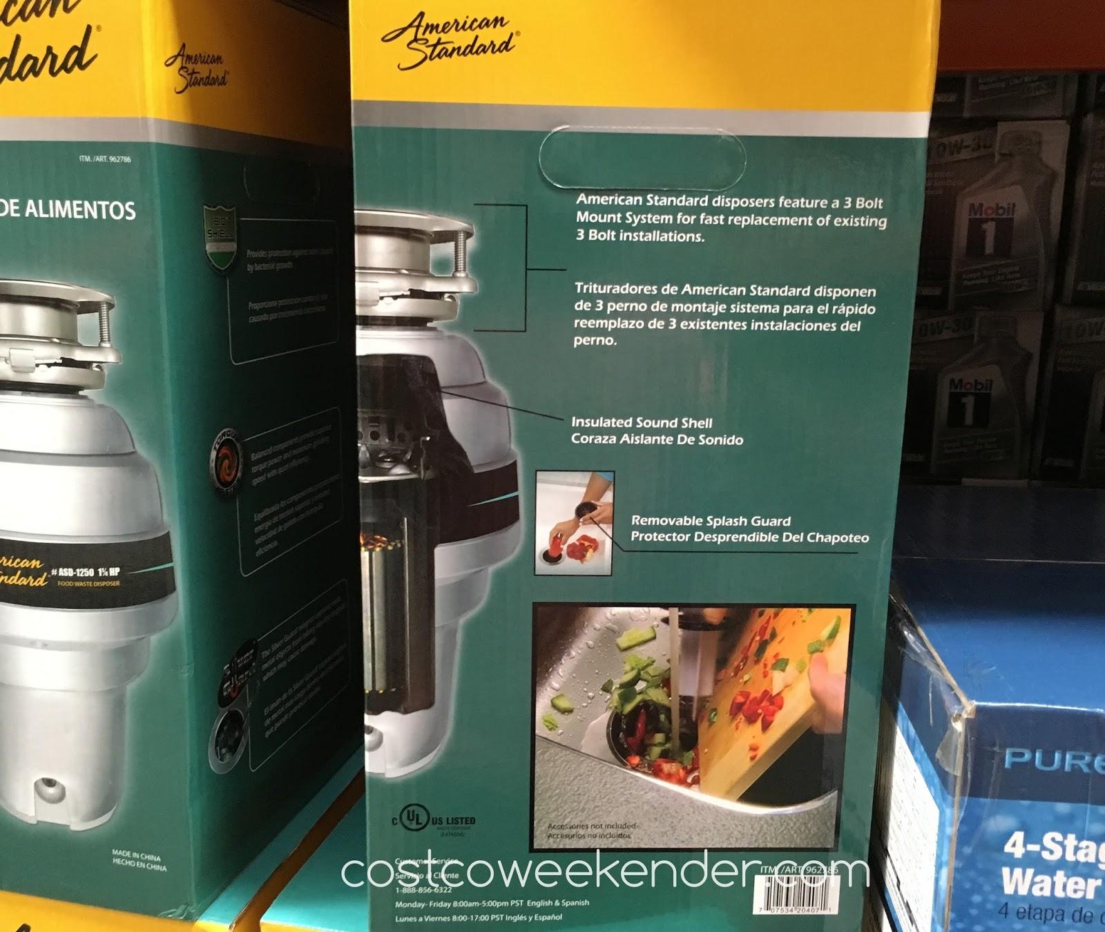 American Standard Asd 1250 Food Waste Disposer Costco
