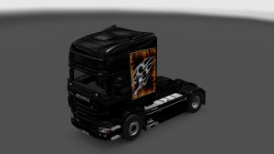 Scania RJL Custom Skull Skin