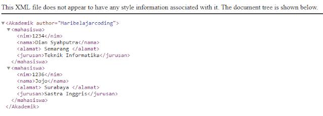 Membuat File XML Sederhana