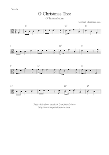 O Christmas Tree viola sheet music