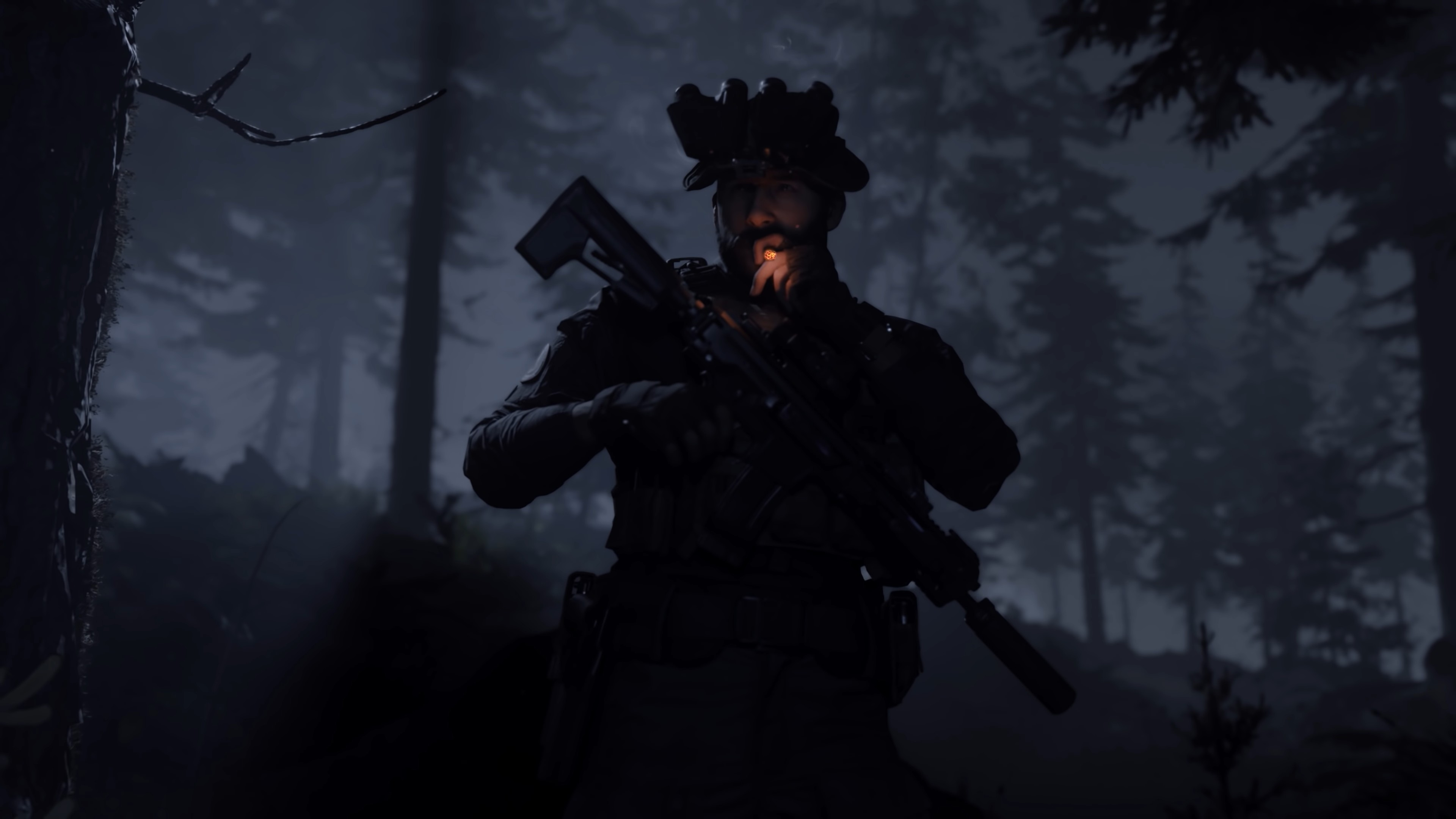 Call Of Duty Modern Warfare Captain Price Smoking 4k Wallpaper 5