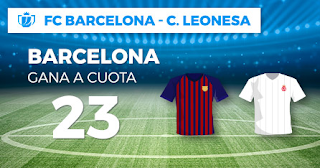 Paston Megacuota copa Barcelona vs Cultural Leonesa 5 diciembre