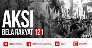 BEM Seluruh Indonesia Serukan Aksi Bela Rakyat 121, Begini Bunyinya