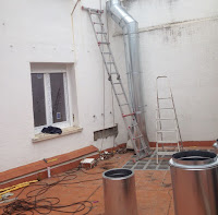 foto trabajos sustituir tubos chimenea