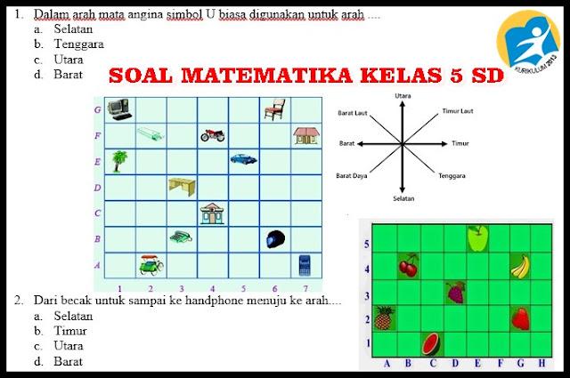 Soal UTS Matematika Kelas 5 Kurikulum 2013 Revisi Semester 1