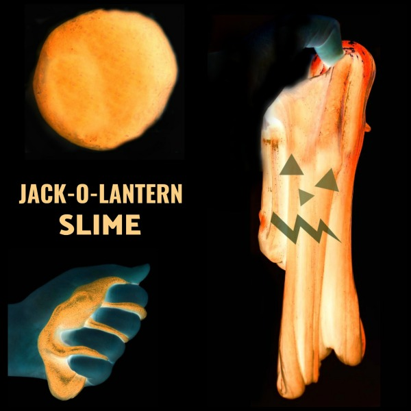 FUN KID PROJECT:  MAKE JACK-O-LANTERN SLIME (It glows in the dark!)