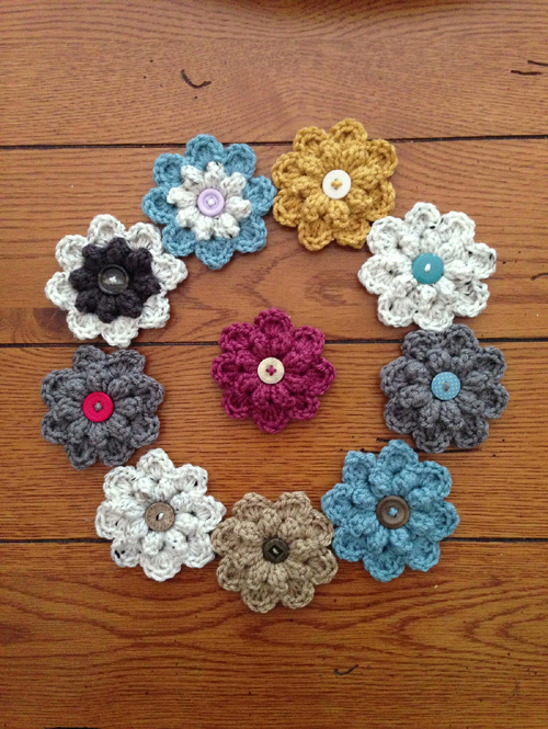 Autumn Berry Flower - Free Pattern