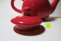 Deckel: Porzellan Teekannenservice von Original First Tea (Rot)