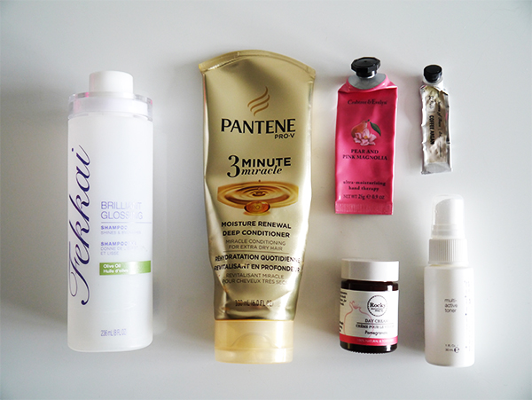 Flatlay of all the products reviewed below