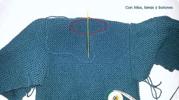 Jersey con capucha para bebé paso a paso   Con hilos, lanas y botones