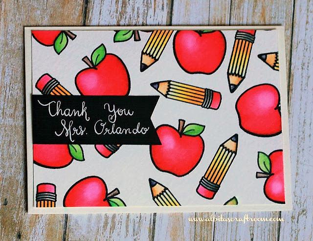 Sunny Studio Stamps: School Time Teacher Thank You Card by Alba (@albasevadilla on instagram)