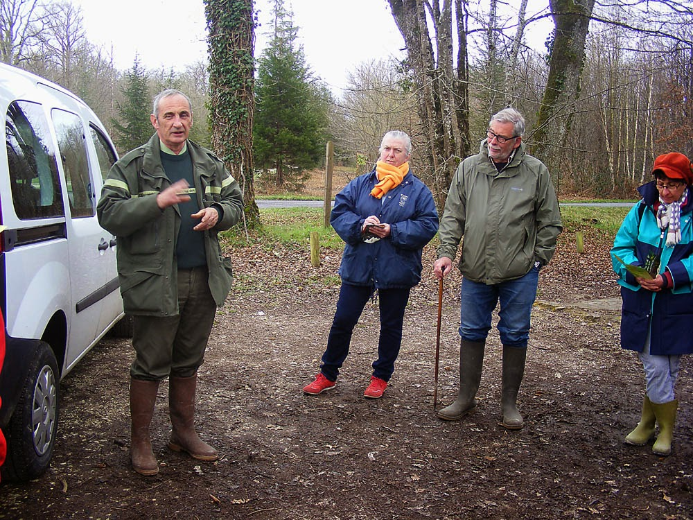 Forestry officer giving a talk to the public.  Indre et Loire, France. Photographed by Susan Walter. Tour the Loire Valley with a classic car and a private guide.