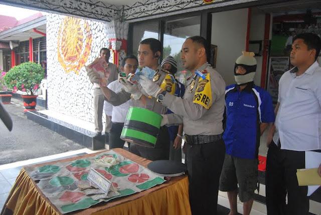 Polres OKI Amankan Bandar Dadu Kuncang