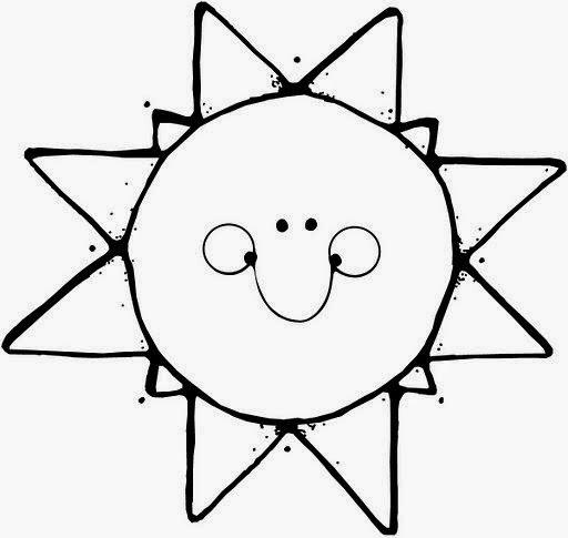 Desenhos de sol para pintar, colorir, imprimir – Sol de verão para colorir – estação do ano verão para pintar – calor