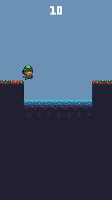 jump, run, pixel, platform