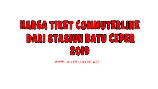 Harga Tiket Commuterline Dari Stasiun Batu Ceper Terbaru 2019