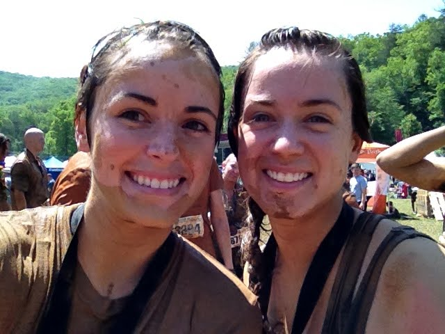 My sister Em and I - after Warrior Dash
