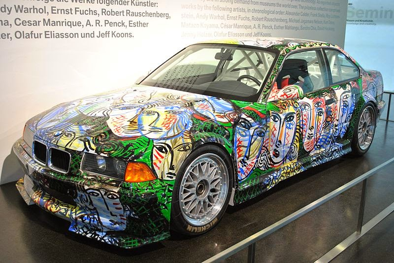 BMW Art Car (BMW M3 GTR) designed by Sandro Chia at BMW Museum Munich, Author Olli1800