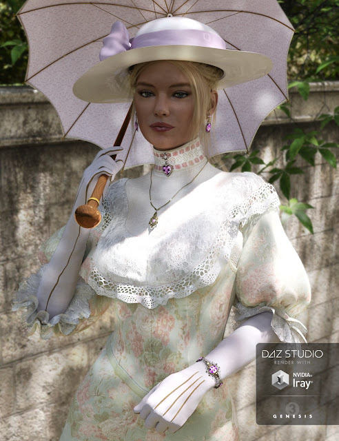 Edwardian Accessories for Genesis 3 Female