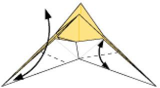 Bước 14: Gấp tạo nét gấp tại vị trí nét đứt