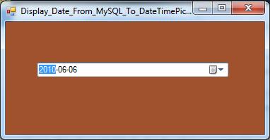 VB.Net Display Date From MySQL Database To DateTimePicker